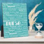"What is a Nurse.....in Blue Plaque<br><div class=""desc"">For that nurse in your life.</div>"