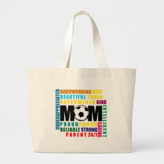 What is a Soccer Mom.png Large Tote Bag