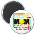 What is a Softball Mom copy.png 2 Inch Round Magnet