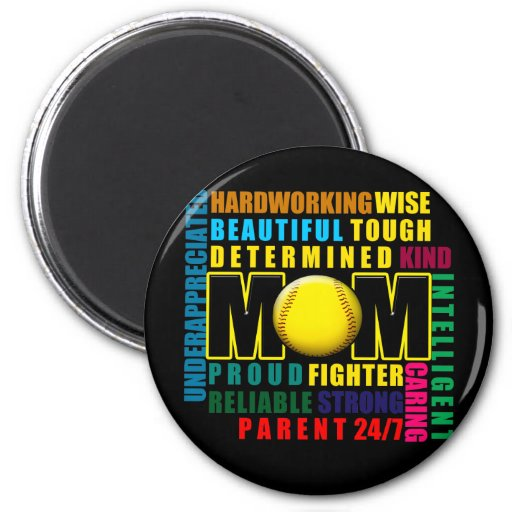 What is a Softball Mom copy.png Refrigerator Magnets