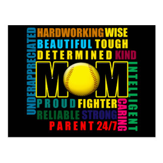 What is a Softball Mom copy.png Postcard