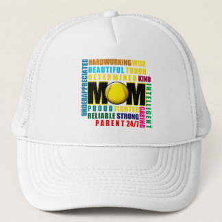What is a Softball Mom copy.png Trucker Hat