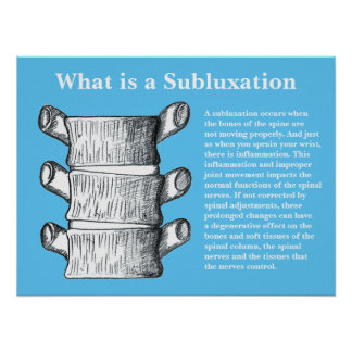 What is a Subluxation Chiropractic Poster Editable