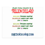 What is a trillion post card