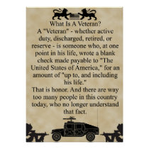 What is a veteran? poster