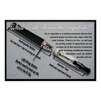 What is an Electronic Cigarette Informative Poster