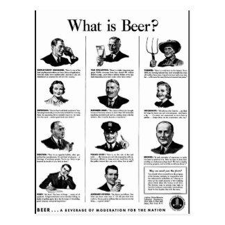 What is Beer? Postcard