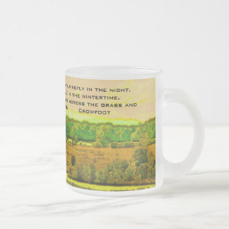 What is life? crowfoot frosted glass coffee mug