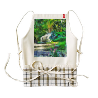What is out of place zazzle HEART apron