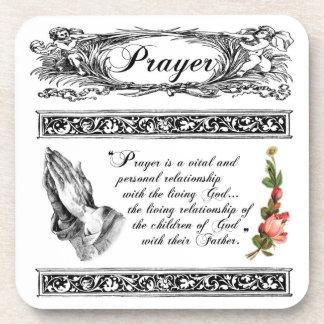 What is Prayer? Custom Cork Coaster 1