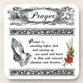 What is Prayer? Custom Cork Coaster 2