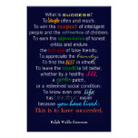 """""""What Is Success?"""" - Ralph Waldo Emerson Poster"""