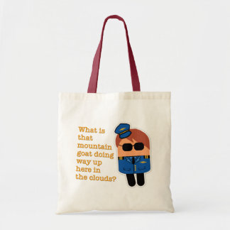 """""""What Is That Mountain Goat Doing?"""" Pilot Tote Bag"""