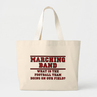 What Is The Football Team Doing On Our Field? Large Tote Bag