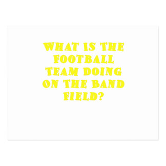 What is the Football Team Doing on the Band Field Postcards