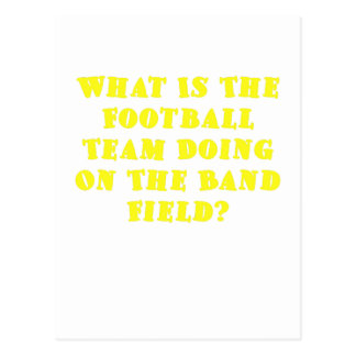 What is the Football Team Doing on the Band Field Postcard