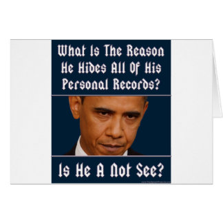 What Is The Reason For Hiding All His Records? Greeting Card