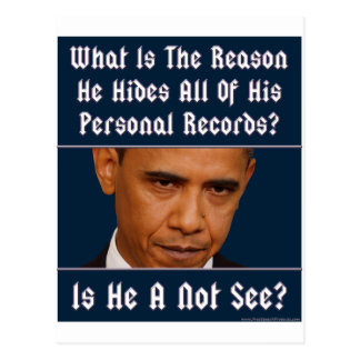 What Is The Reason For Hiding All His Records? Postcard