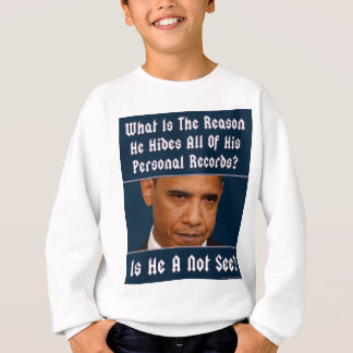 What Is The Reason For Hiding All His Records? Sweatshirt