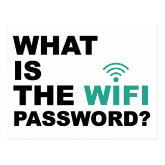 What is the WIFI Password Funny Postcard