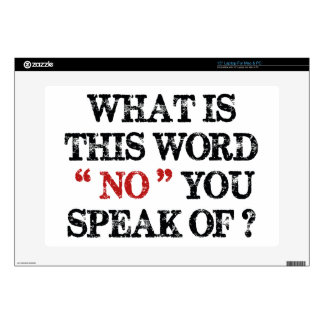 """What Is This Word No 15"""" Laptop Skin"""