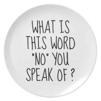 What Is This Word No Dinner Plate