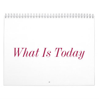 What Is Today Wall Calendar