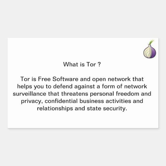 What is Tor ? Rectangular Sticker
