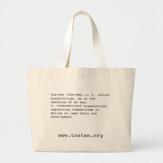 What is Tostan? Tote Jumbo Tote Bag
