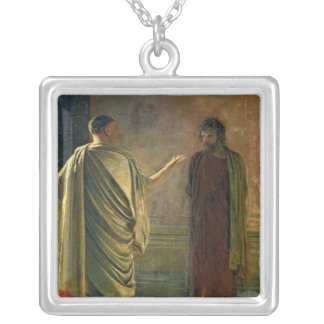 What is Truth?  1890 Silver Plated Necklace