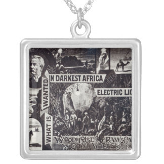 What is Wanted in Darkest Africa is Electric Silver Plated Necklace