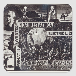 What is Wanted in Darkest Africa is Electric Square Sticker