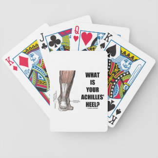 What Is Your Achilles' Heel? (Heel Anatomy) Bicycle Playing Cards