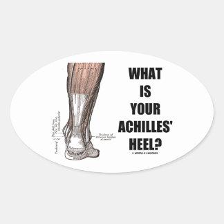 What Is Your Achilles' Heel? (Heel Anatomy) Oval Sticker