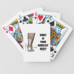 What Is Your Achilles' Heel? (Heel Anatomy) Bicycle Poker Cards