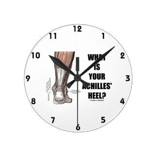 What Is Your Achilles' Heel? (Heel Anatomy) Round Clock