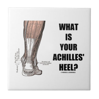 What Is Your Achilles' Heel? (Heel Anatomy) Small Square Tile