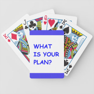 WHAT IS YOUR PLAN MOTIVATIONAL QUESTIONS COMMENTS BICYCLE PLAYING CARDS