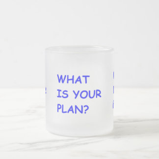 WHAT IS YOUR PLAN MOTIVATIONAL QUESTIONS COMMENTS FROSTED GLASS COFFEE MUG