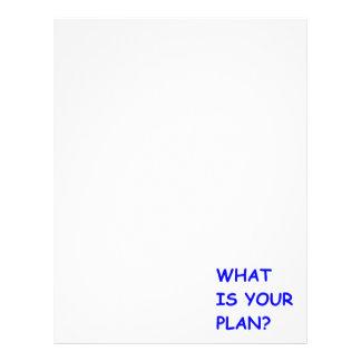 WHAT IS YOUR PLAN MOTIVATIONAL QUESTIONS COMMENTS LETTERHEAD