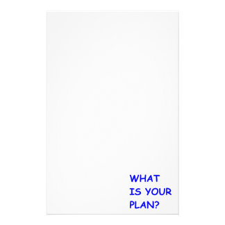 WHAT IS YOUR PLAN MOTIVATIONAL QUESTIONS COMMENTS PERSONALIZED STATIONERY