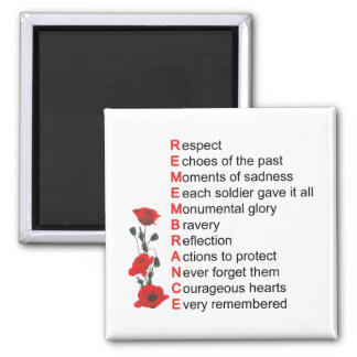 What It Means Remembrance Day Magnet Refrigerator Magnets
