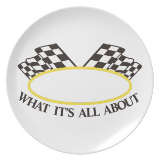 What its All About Melamine Plate