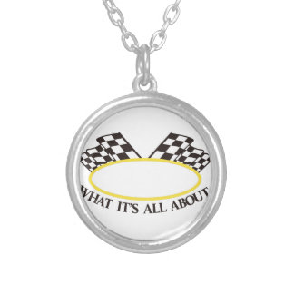 What its All About Round Pendant Necklace
