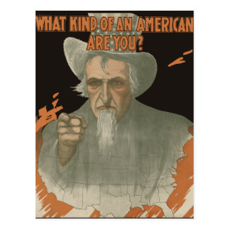 What Kind Of An American Are You? Postcard