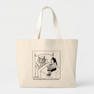 What Large Dentures You Have Large Tote Bag