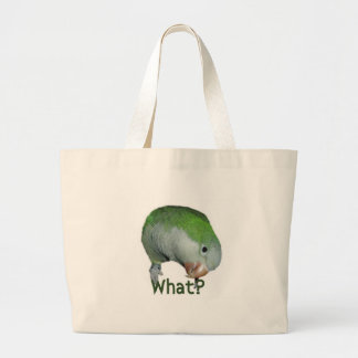 What? Large Tote Bag