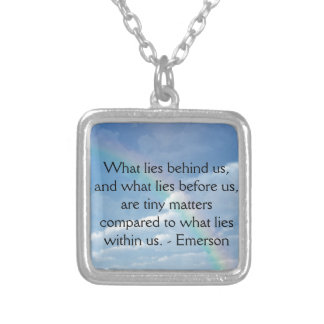 What Lies Before Us Square Pendant Necklace