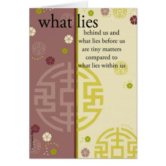 What Lies Behind Us Card