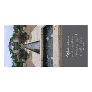 What Lies Behind Us Fountain Photocard Customized Photo Card
